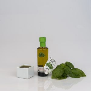 """BASIL FLAVORED EXTRA VIRGIN OLIVE OIL """"CILINDRICA 10cl"""""""