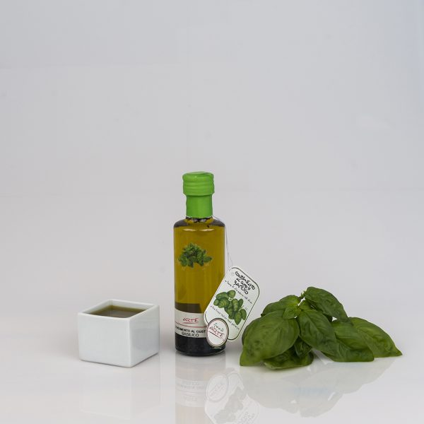 "BASIL FLAVORED EXTRA VIRGIN OLIVE OIL ""CILINDRICA 10cl"""