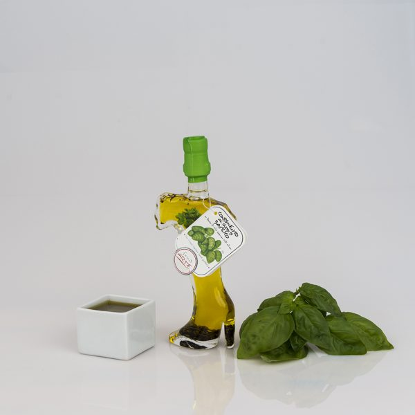 "BASIL FLAVORED EXTRA VIRGIN OLIVE OIL ""ITALIA 10cl"""