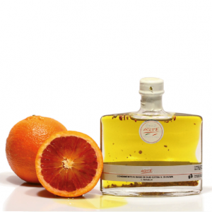 "ORANGE FLAVORED EXTRA VIRGIN OLIVE OIL ""TARQUINIA 20cl"""