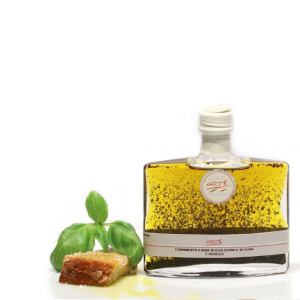 "BASIL FLAVORED EXTRA VIRGIN OLIVE OIL ""TARQUINIA 20cl"""