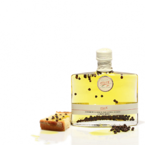 "BLACK PEPPER FLAVORED EXTRA VIRGIN OLIVE OIL ""TARQUINIA 20cl"""