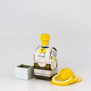 "LEMON FLAVORED EXTRA VIRGIN OLIVE OIL ""QUADROTTA 25cl"""