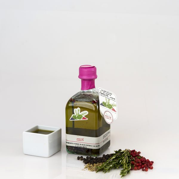 "MIXED HERBS FLAVORED EXTRA VIRGIN OLIVE OIL ""QUADROTTA 25cl"""